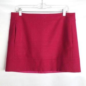 J. Crew | Raspberry Wool Mini Skirt